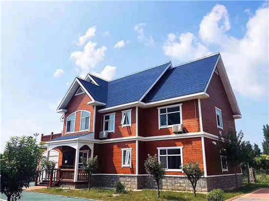 某别墅建造使用御景源防腐木建造房屋客户见证