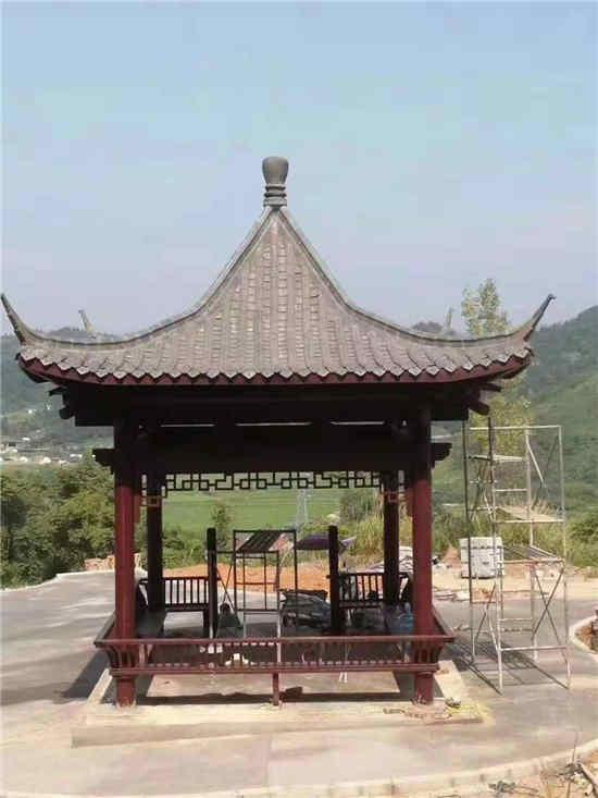 某公园使用御景源防腐木建造凉亭案例展示