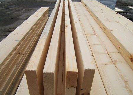 防腐木材料展示