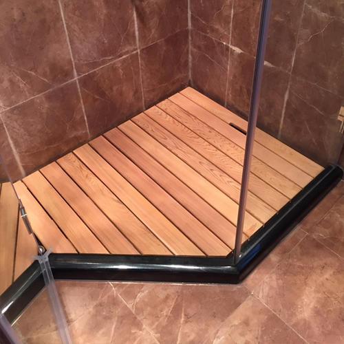 浴室防腐木