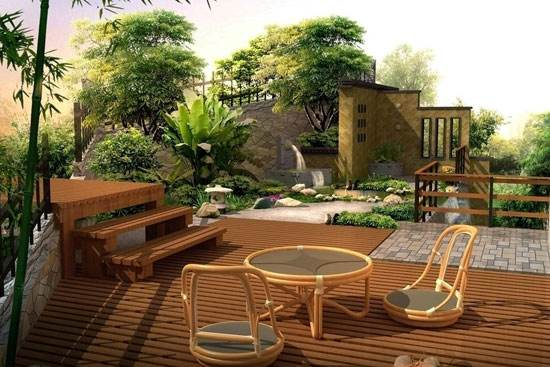 南阳别墅庭院