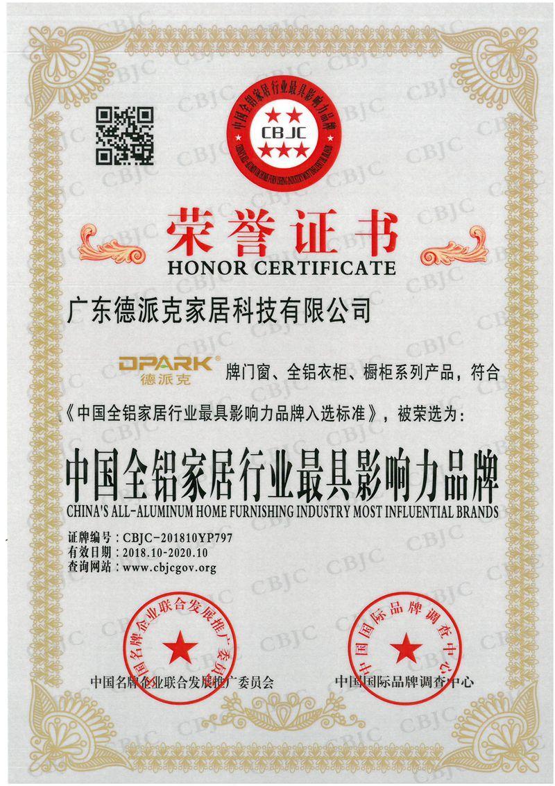 中國全鋁家居行業.具有影響力品牌
