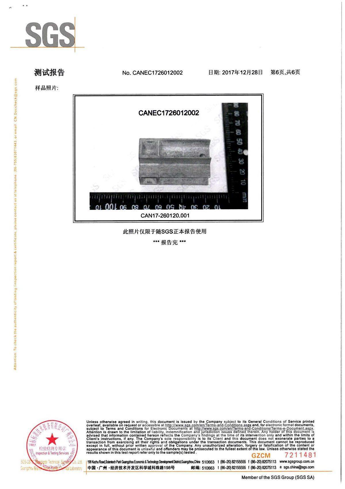 SGS權威檢測報告17