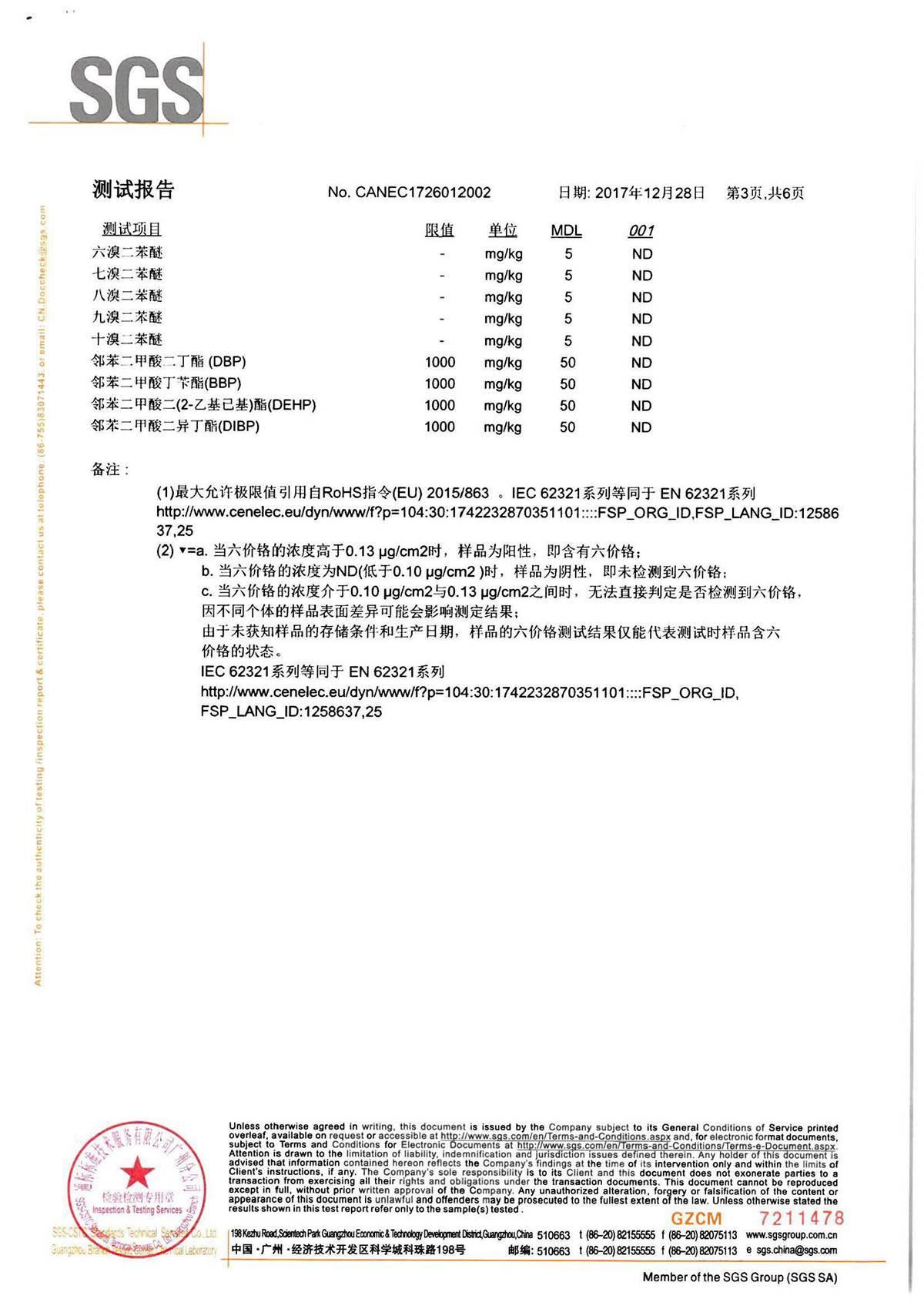 SGS權威檢測報告14