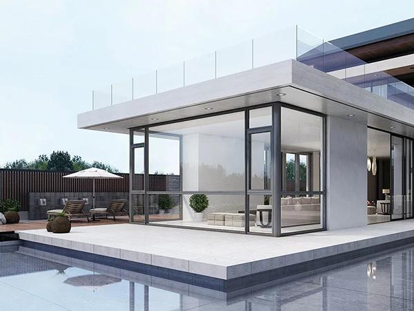 現代簡約風格的全鋁門窗,充滿了時尚潮流