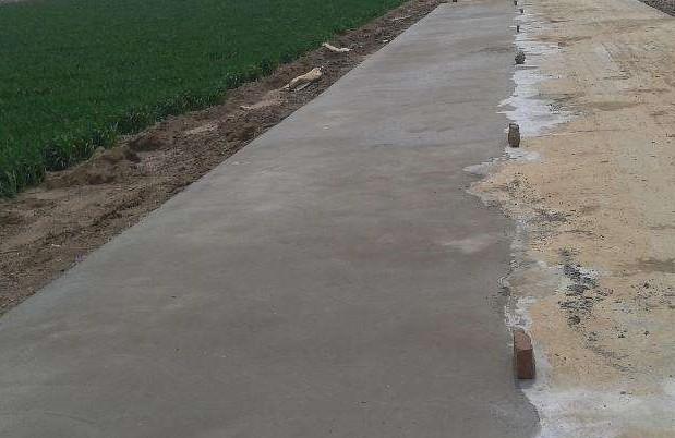 某村庄使用鸿春路面修复砂浆施工工程案例展示
