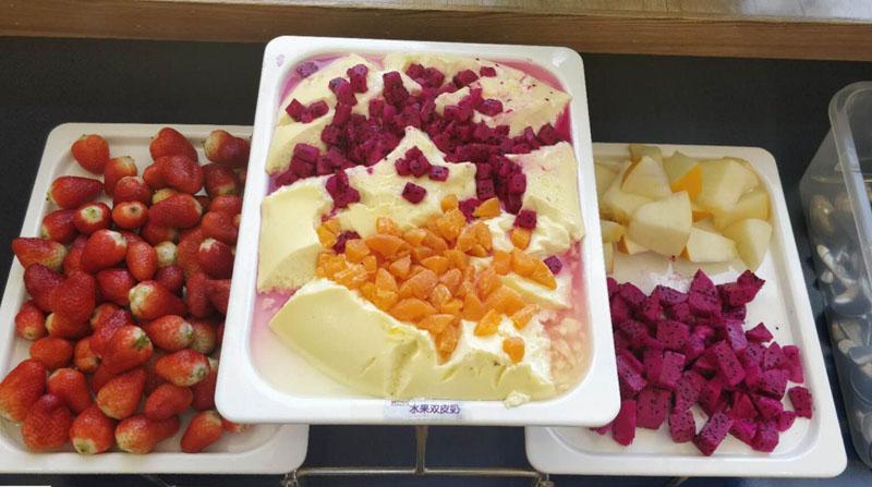 兰州芯儿国际幼儿园丰富的水果美食