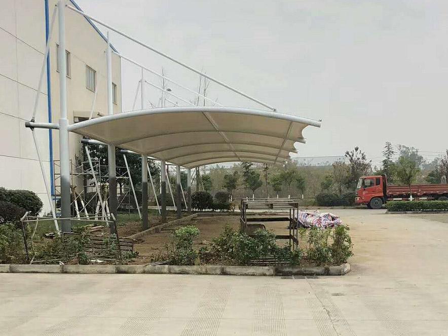 膜结构停车棚案例-德阳东方锅炉厂