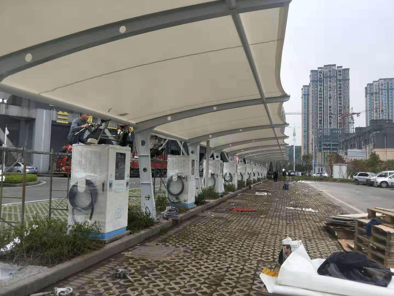 充电桩膜结构案例-重庆綦江体育中心
