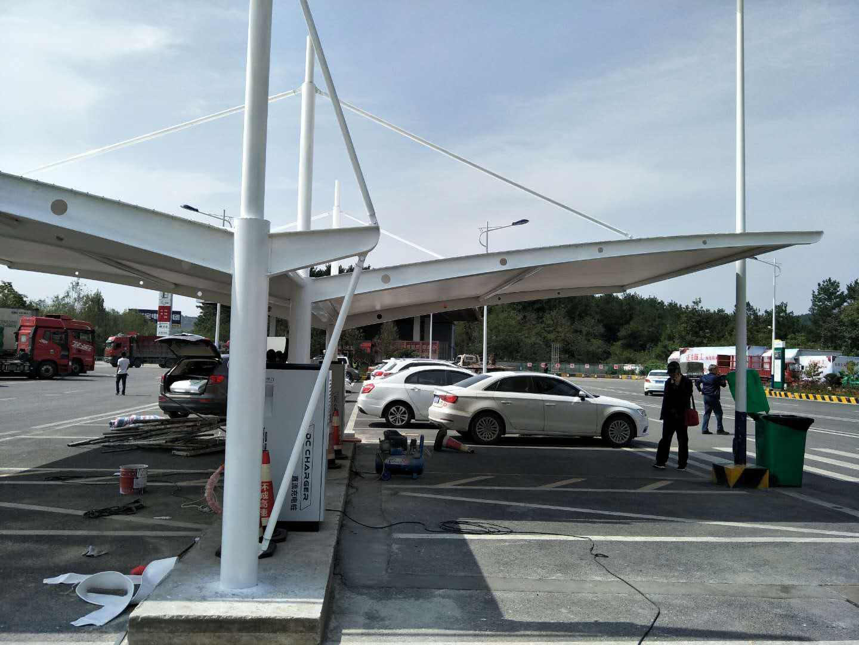 充电桩膜结构案例-贵阳高速公路服务区