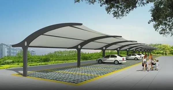 成都膜结构停车棚技术的创新与发展