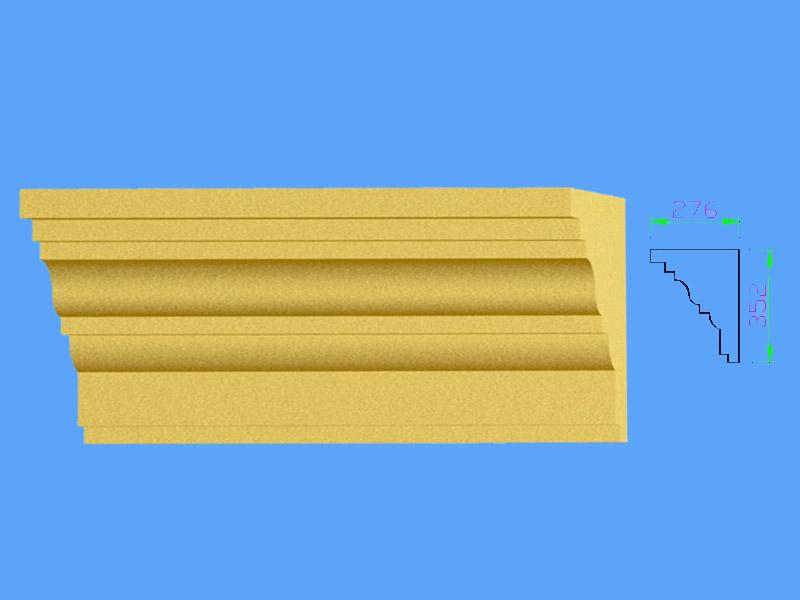 彩色外墙装饰grc线条生产厂家