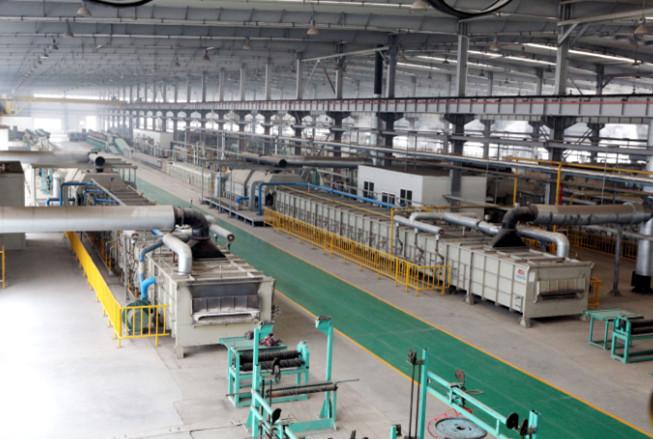 钢丝绳热处理生产线