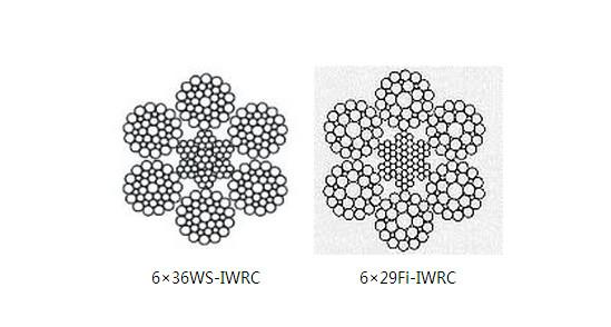 工程机械钢丝绳6×36WS-IWRC、6×29Fi-IWRC