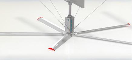 工业大风扇解决通风降温难题促进快速通风