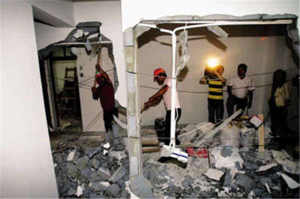 承重牆托換撤除加固施工
