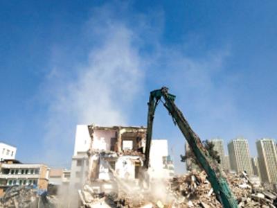东平开元与盐池县旧楼拆除工程