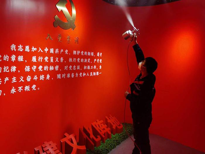 宁夏万鸿环境服务有限公司为吴忠市红寺堡区人民法院党员教育基地进行了甲醛治理。