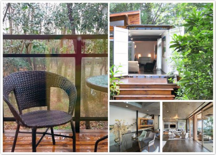 乡村山野质地建一栋集装箱别墅真的是浪漫而温暖