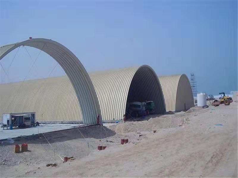 鄂尔多斯储煤棚无梁拱型屋顶化企业高效安装