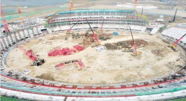 汕头亚青会主场馆主体结构全面封顶