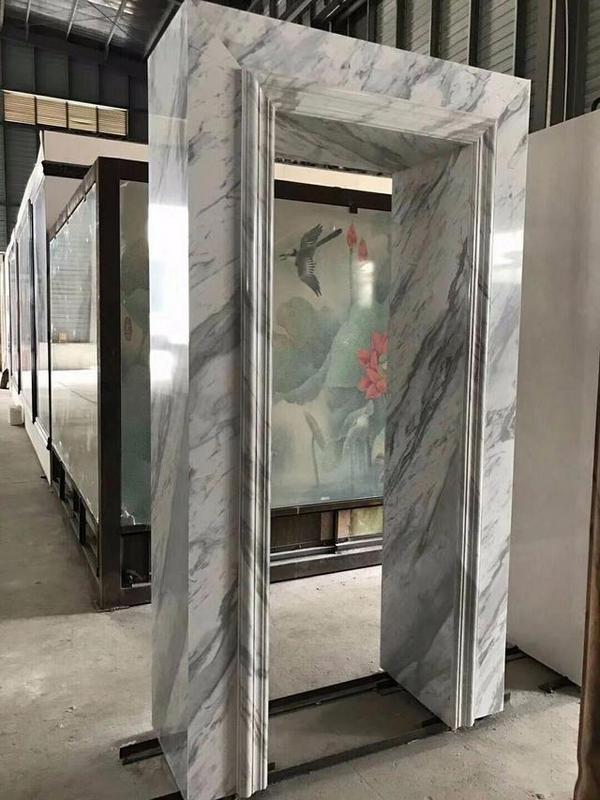 大理石和石塑线条的区别是什么呢?河南大理石电梯门套厂家分享给大家!