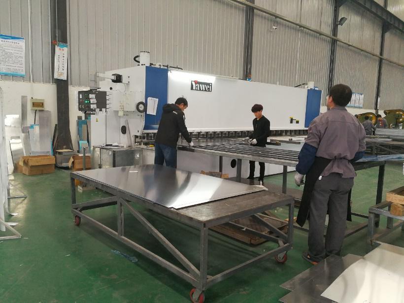 西安仿石纹铝板-生产展示