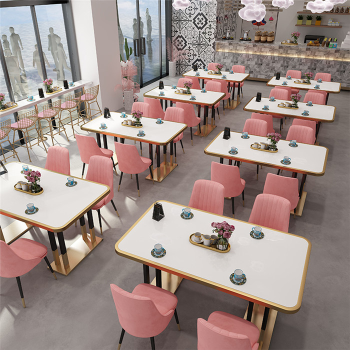 北歐餐飲家具奶茶店桌椅