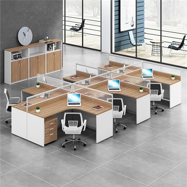 現代辦公家具員工屏風卡座工作桌