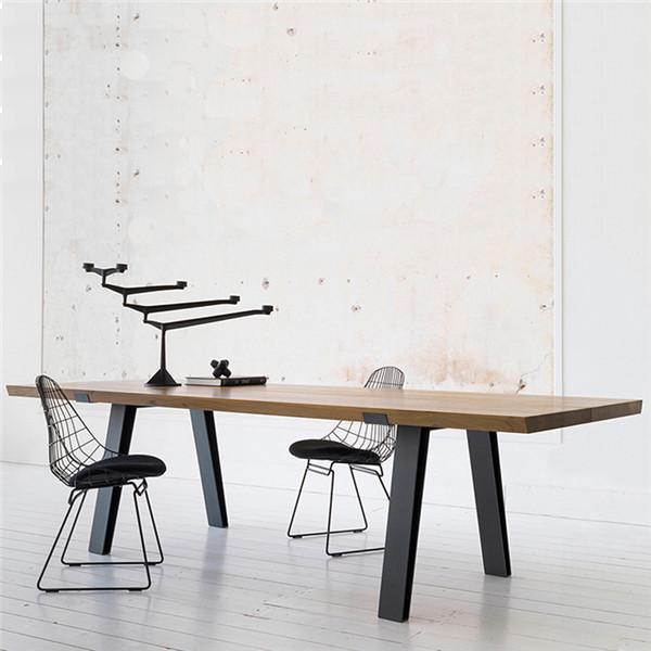 北歐會議桌實木辦公桌