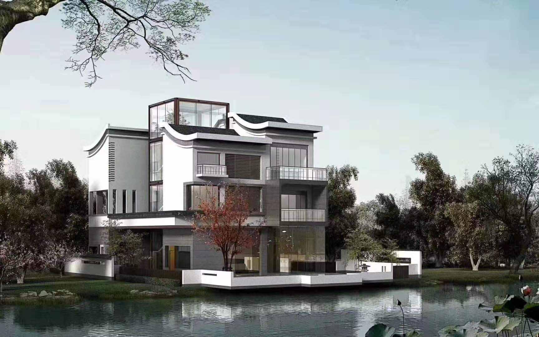 某开发区与旭诚建材合作进行别墅庭院设计建造案例展示