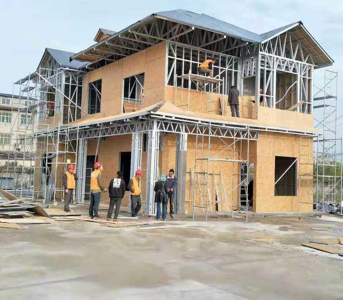 某楼房改造与旭诚轻钢别墅合作案例展示