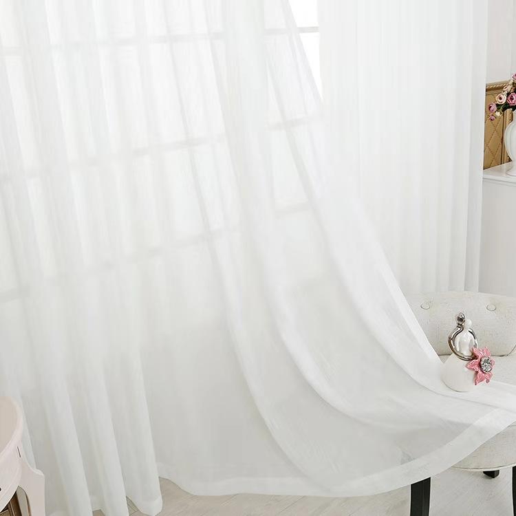 旭诚全屋整装 纱质窗帘使用 遮光度好