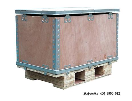 出口免熏蒸折叠钢边箱