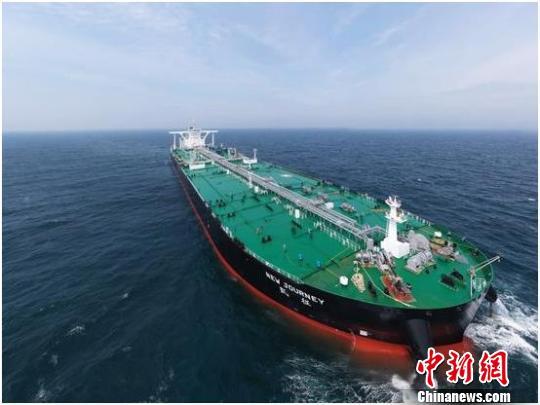 """鞍钢..供货全球首艘超大型智能油轮""""凯征""""号交付"""