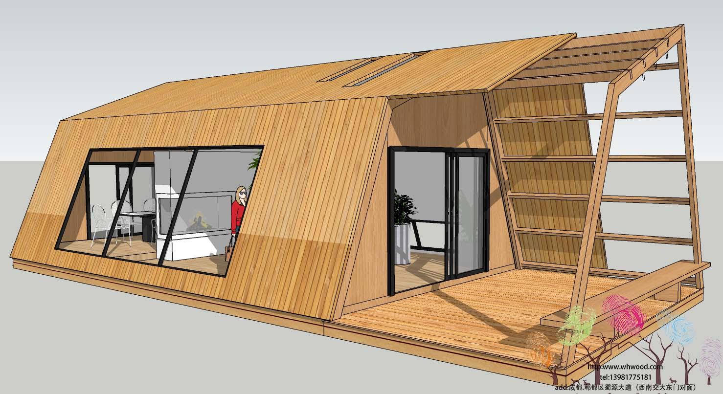 伍豪木构又一体验店正在火热修建中。