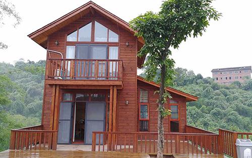 贵州木别墅施工