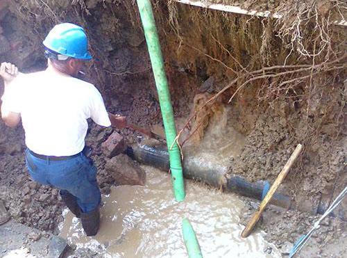 自来水漏水检测现场
