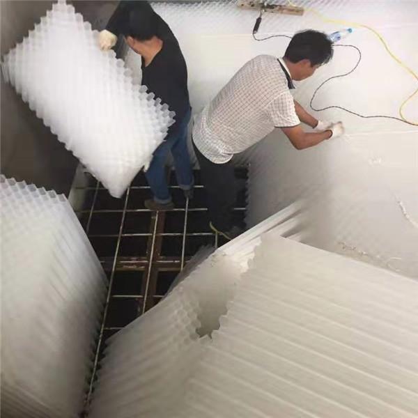 甘泉污水处理厂合作项目:湖南蜂窝斜管填料