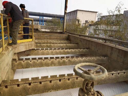 陕西电厂污水系统更换80斜管填料