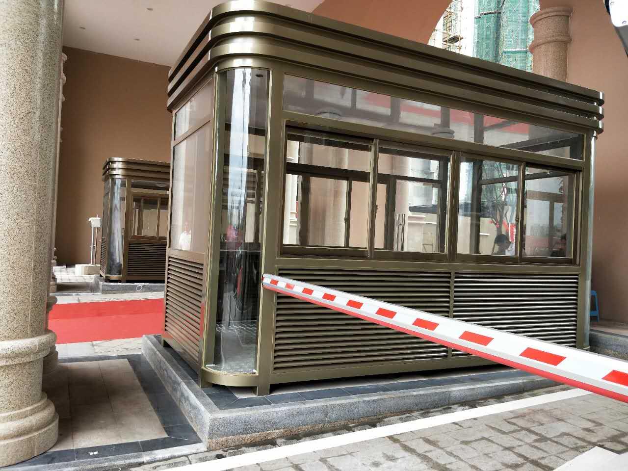 佳乐国际-钢结构岗亭安装案例