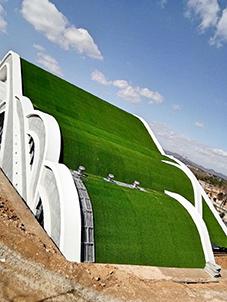 云南曲靖市珠江风景区铝镁锰金属屋面项目