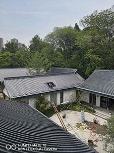 成都依田桃源样板间 铝镁锰屋面仿古瓦