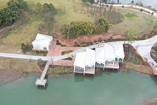 金堂杨溪湖湿地公园 铝镁锰金属屋面项目