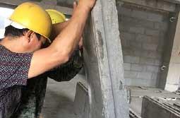 实芯隔墙板生产安装过程!