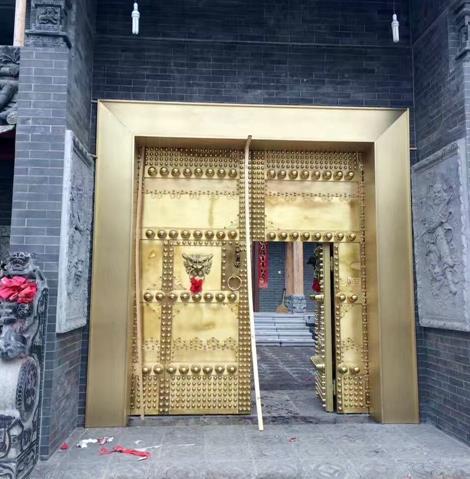 黄铜庭院铜门