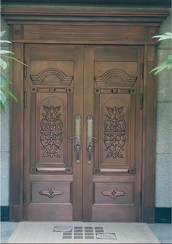 木纹铜别墅门