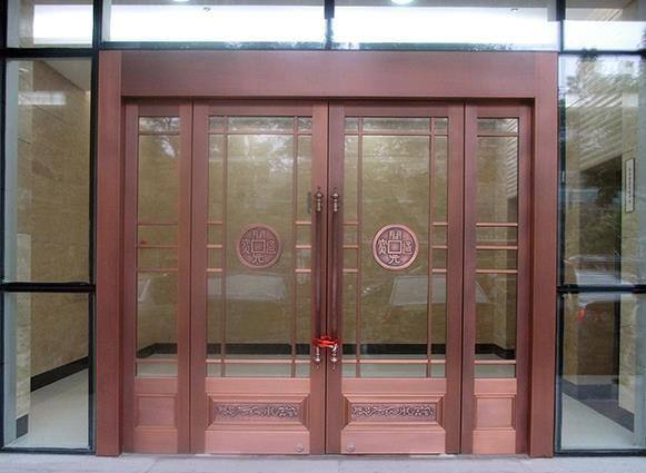 西安玻璃铜门价格