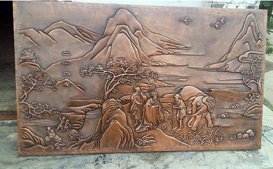 铜浮雕工艺