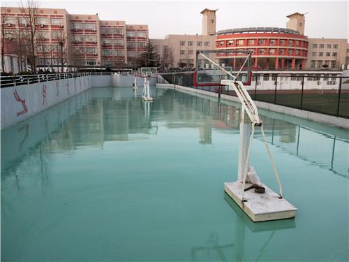河南悬浮式拼装地板合作现场